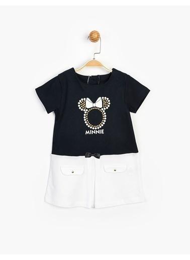Minnie Mouse Elbise Lacivert